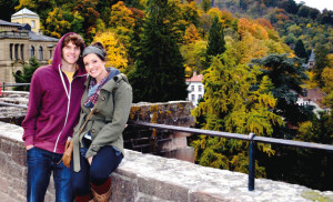 Clint and Jill (Young) Sargent are spending their first year as a married couple playing basketball in Heidelberg, Germany.
