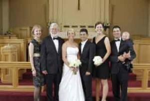 Nancy and Pat Lyons, Meghan and Joji Calabro, Mandy Lyons-deBlonk and Bill deBlonk with son, Chet.