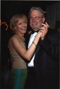 Pat and Nancy Lyons dance at the wedding of their daughter, Mandy.