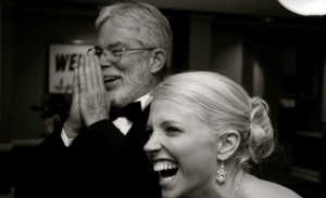 Pat and his daughter, Meghan, at her wedding.