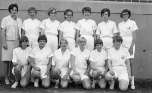 The 1967 women's basketball team.