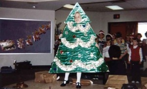 Vetter played a Christmas tree in her first kindergarten play.