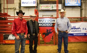 Three generations of Suttons help put on the Jackrabbit Stampede. Brent '10, Jim '57 and Steve '82 all were members of the Rodeo Club during their times at State and treat the week of the Jackrabbit Stampede as a large family reunion.