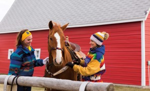 On a brisk winter day, Victoria (French) Blatchford, right, attends to her horse, Red Man, with her daughter, Carolyn, 15, at their stables, Six Mile Creek Acres, on the north edge of Brookings. The former Miss Rodeo South Dakota stays connected with the sport through barrel racing and her daughter, who has pursued royalty as well as goat tying and breakaway roping.