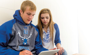 Two Elkton High School students took advantage of online classes as members of the dual-credit program.