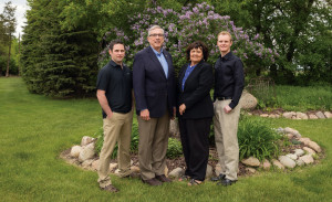 The Dunn family, South Dakota State's newest first family. From left, Thomas, Barry, Jane and Michael.