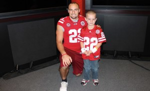 Jack Hoffman with his idol, former Nebraska running back Rex Burkhead.